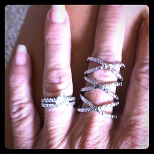 3 stackable silver rings 💍